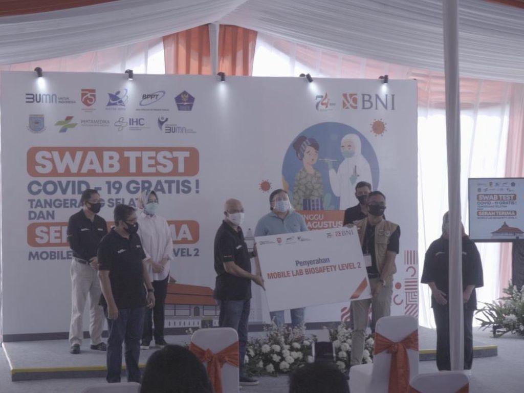 Tingkatkan Uji COVID-19, Mobile Lab Bio Safety Dikirim ke Palembang