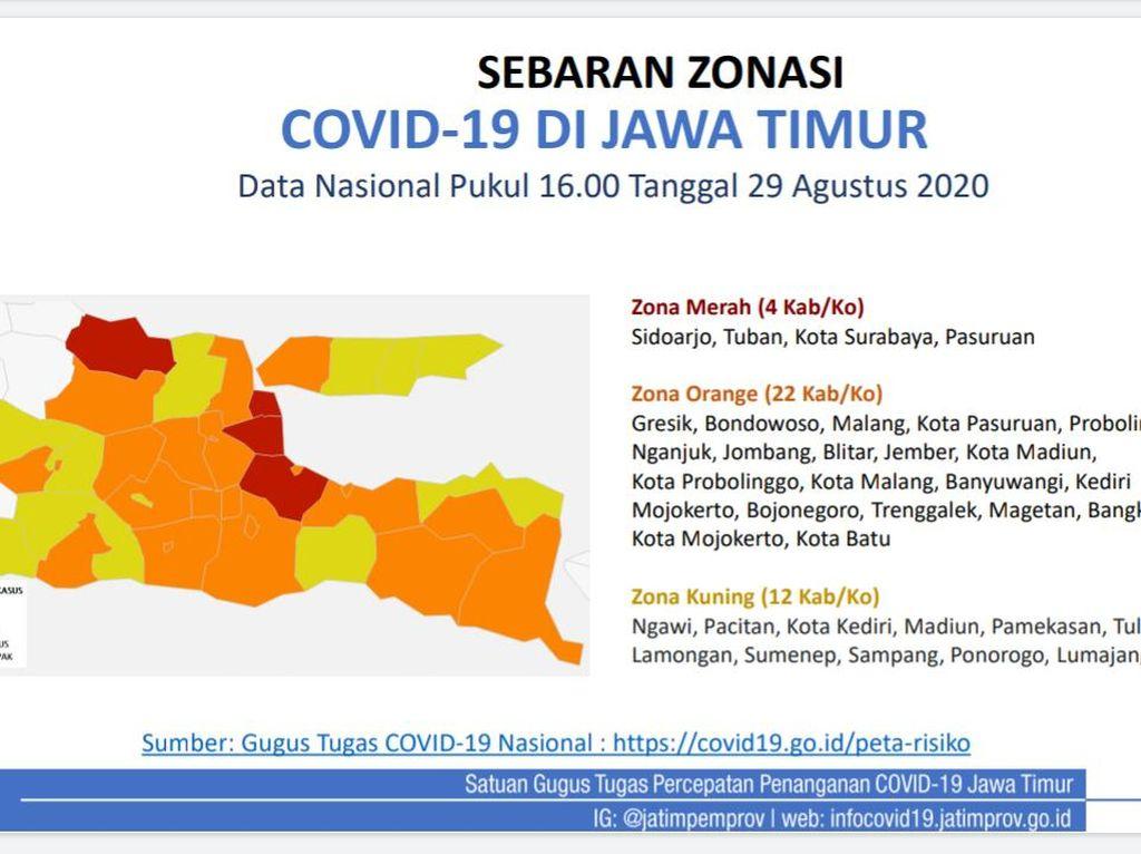Selain Surabaya, Ini Zona Merah COVID-19 di Jatim