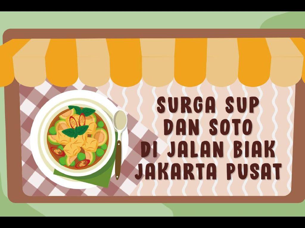 Surga Sup dan Soto di Jalan Biak Jakarta Pusat