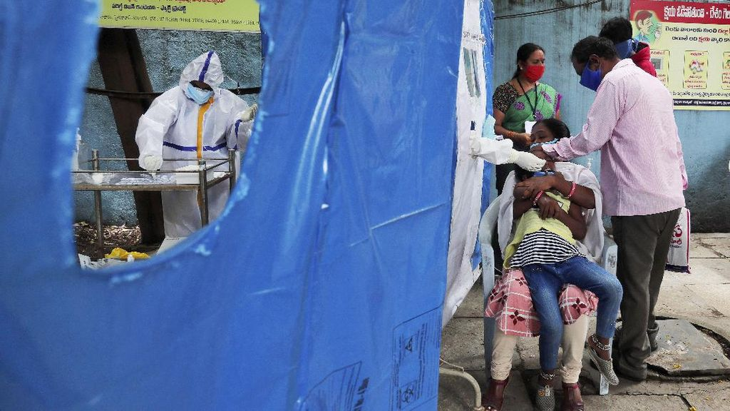 78 Ribu Kasus Corona Sehari, India Catatkan Rekor Dunia