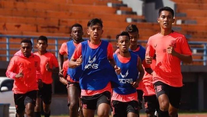 Latihan Borneo FC di Samarinda, Senin (31/8/2020).