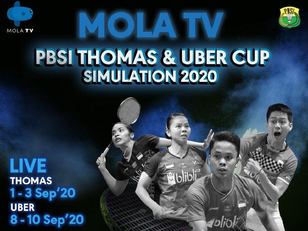 Jadwal MolaTV PBSI Thomas & Uber Cup Simulation 2020 Hari Ini