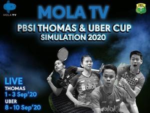 Jadwal Mola TV PBSI Thomas & Uber Cup Simulation 2020 Hari Ini