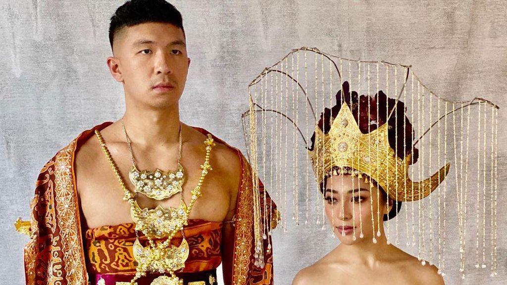 7 Potret Cantiknya Nikita Willy saat Prewedding Pakai Adat Minang & Lampung
