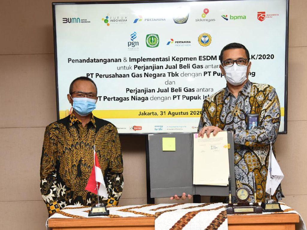 PGN Grup Suplai Gas 54 BBTUD ke PT Pupuk Iskandar Muda