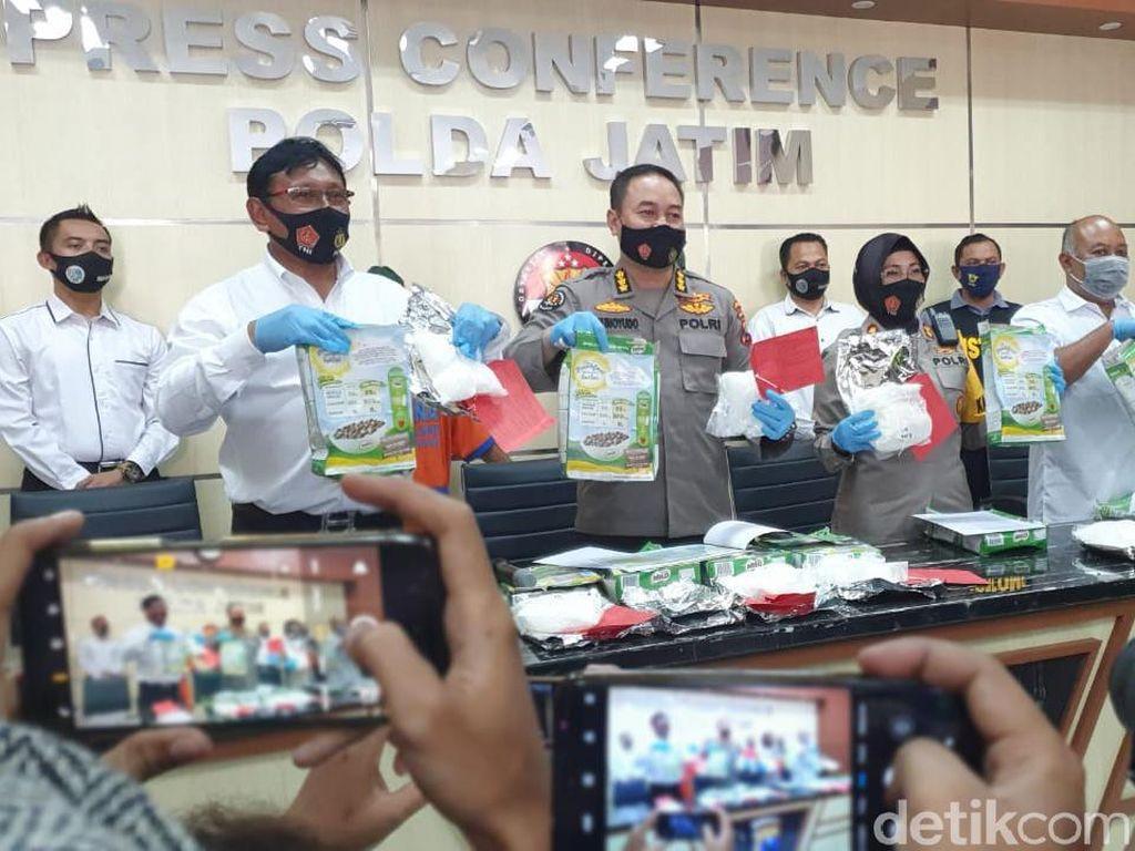 6,5 Kg Sabu Malaysia yang Gagal Diselundupkan Dibungkus Kotak Kemasan Susu