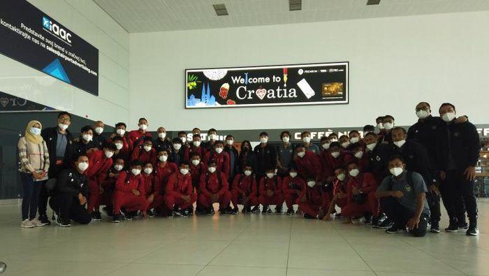 Timnas Indonesia U-19 tiba di Kroasia.