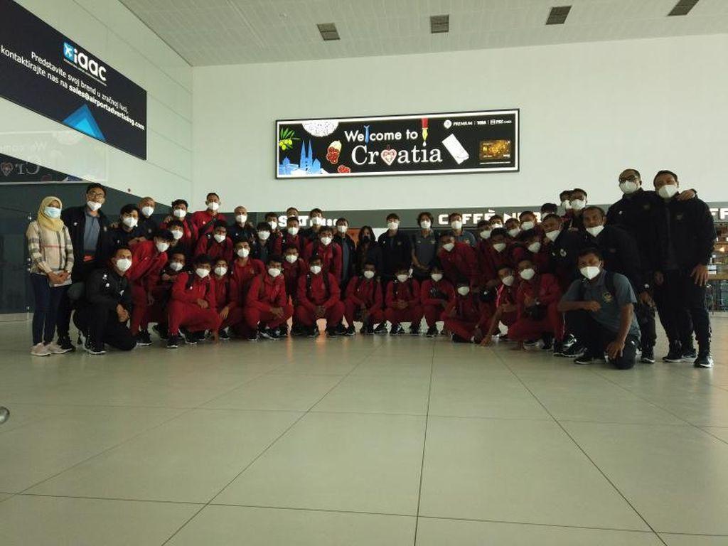 Timnas Indonesia U-19 Langsung Jalani Latihan di Kroasia