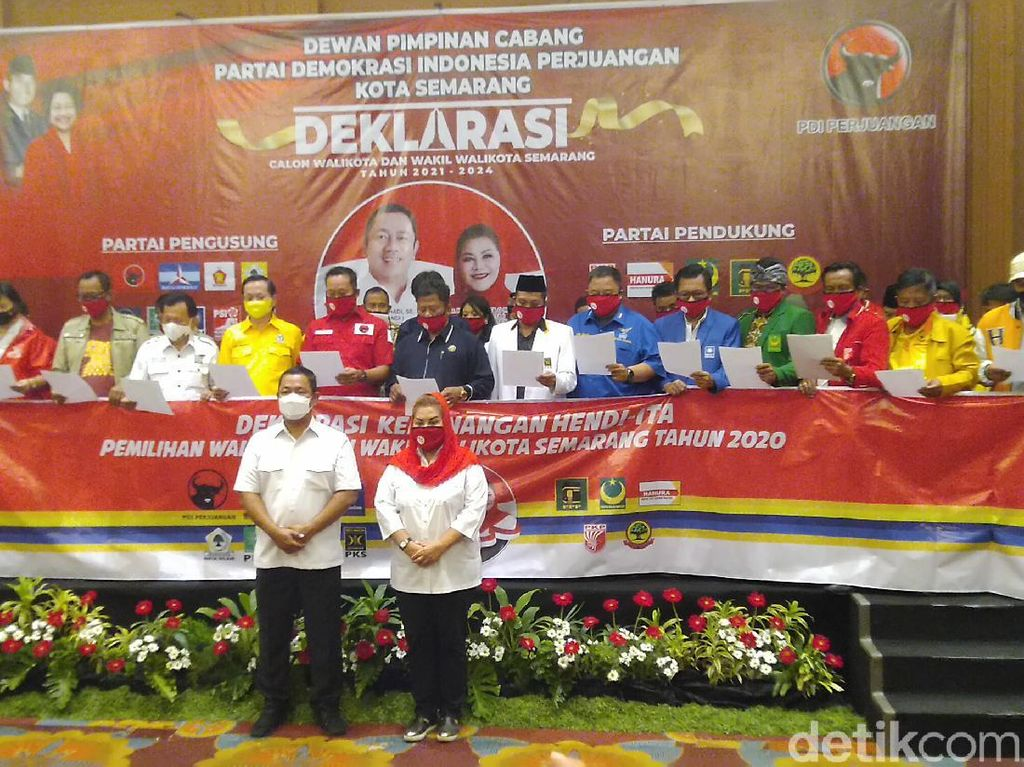 Didukung Koalisi Gemuk, Petahana Semarang Siap Lawan Ajakan Golput