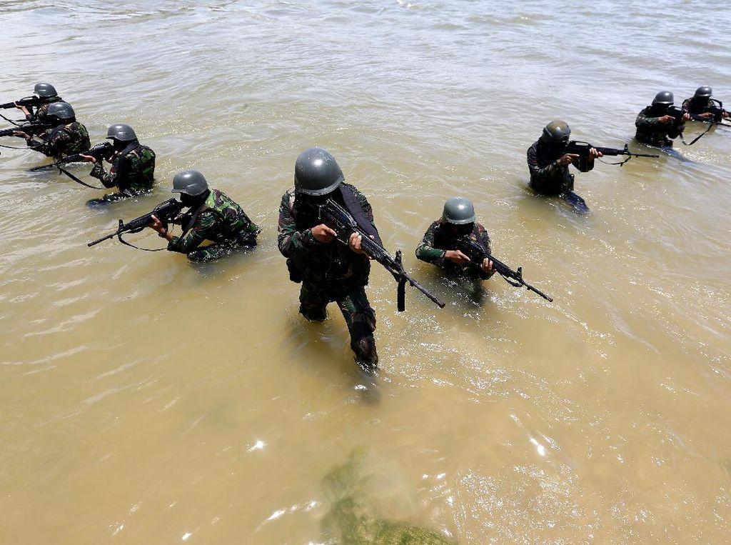 Intip Latihan Pemeliharaan Prajurit Batalyon Raider