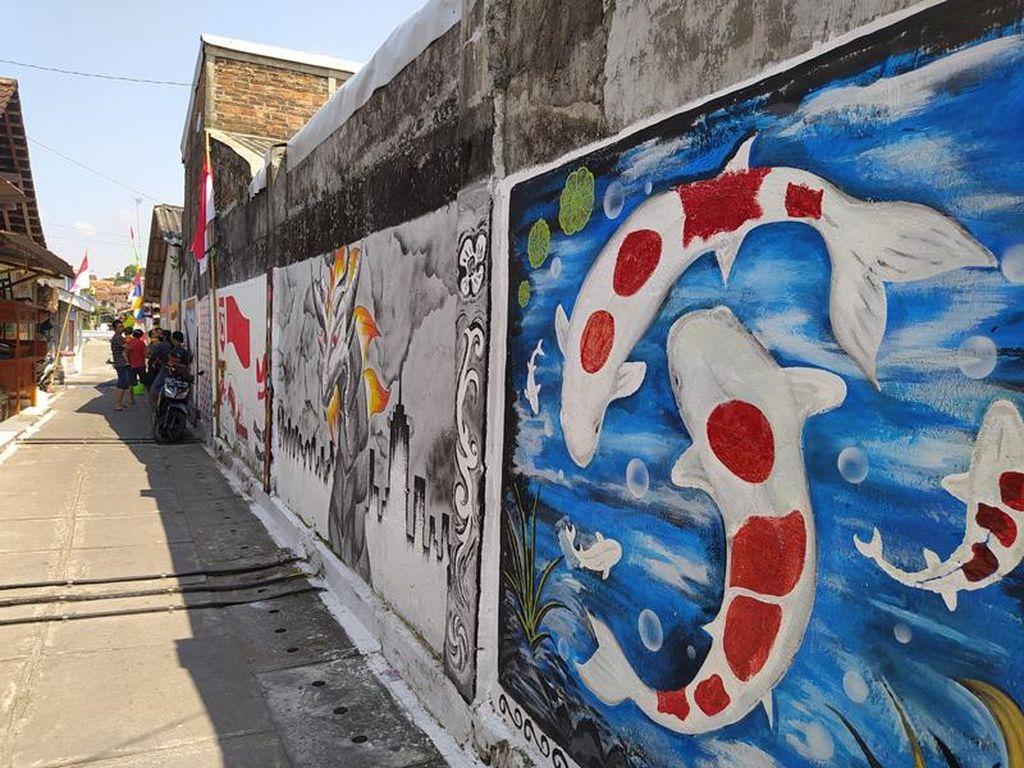 Kreatif Banget! Lukisan 3D Hiasi Tembok Rumah Warga Magelang