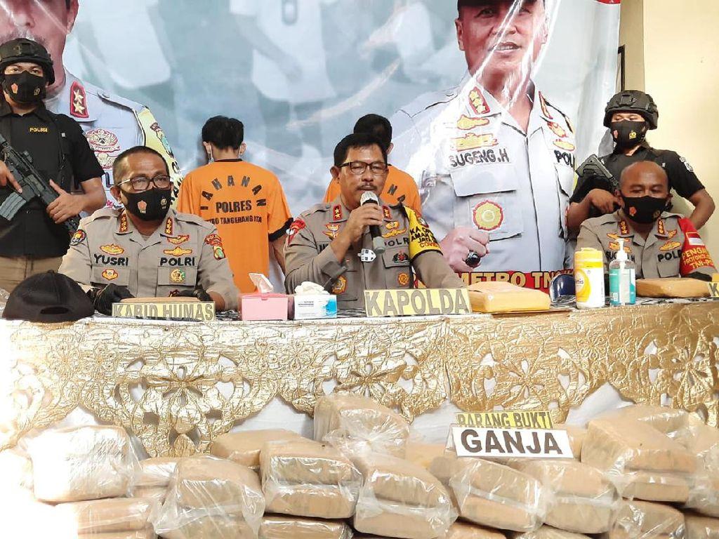 Polres Tangerang Sita 200 Kg Ganja dari Aceh, 2 Pelaku Ditangkap