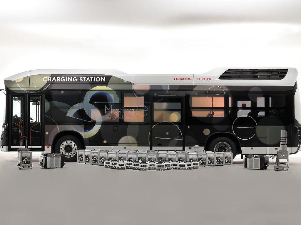 Toyota-Honda Akur Garap Bus Hidrogen Jadi Powerbank