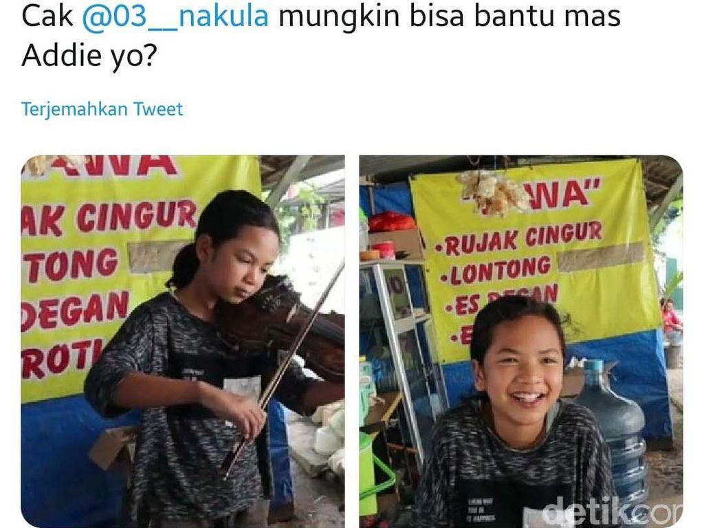Viral Remaja 13 Tahun di Surabaya Lihai Mainkan Biola Sambil Gendong Anak Kecil