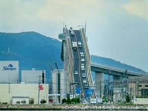 Bikin Dengkul Lemes, Jembatan Eshima Ohashi di Jepang Dijuluki Rollercoaster