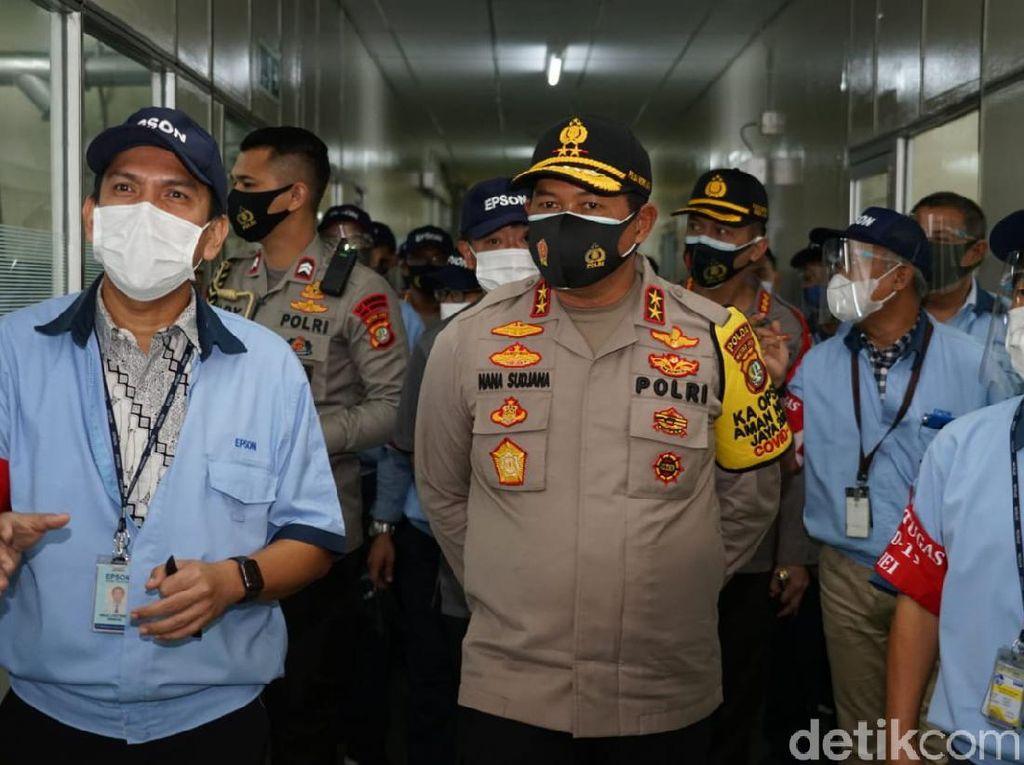 Kapolda Metro Cek Protokol Kesehatan di 2 Pabrik Bekasi