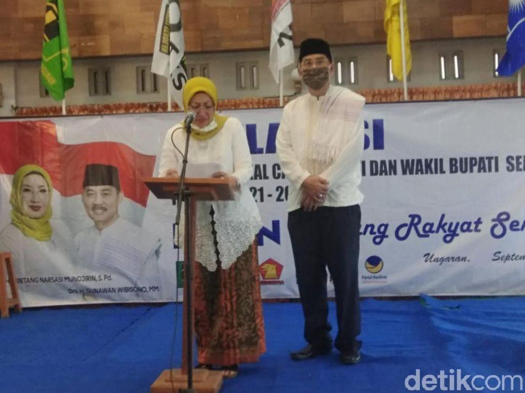 Istri Bupati Semarang Bakal Kerahkan 200 Orang Saat Daftar Pilkada