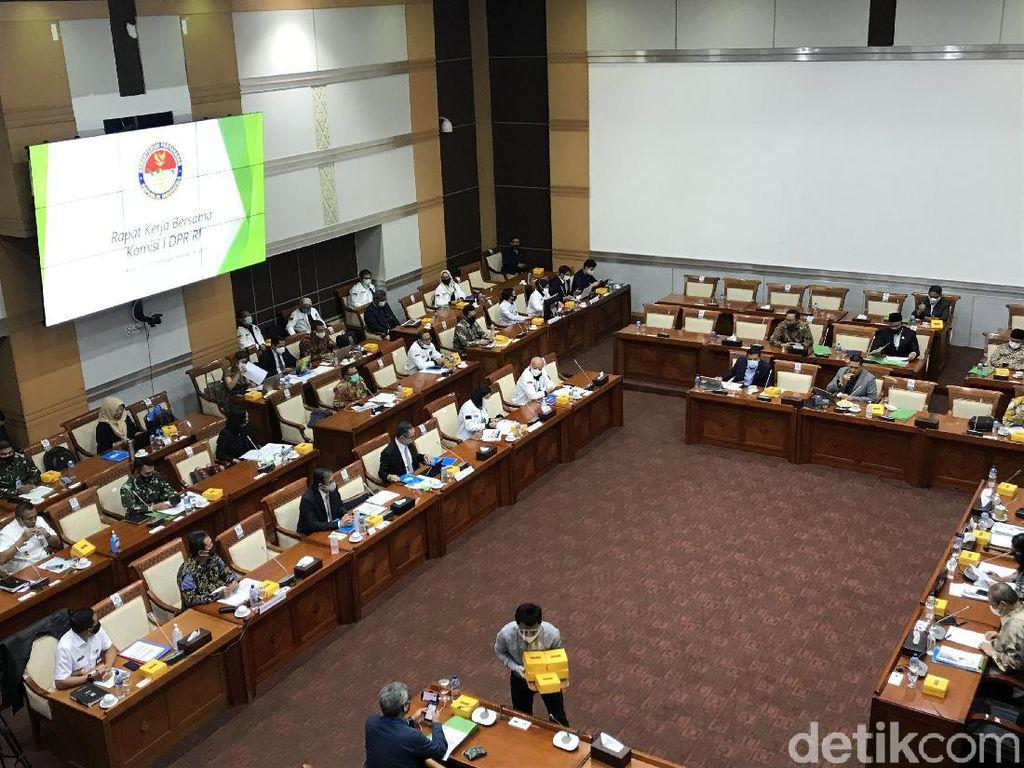 Komisi I DPR Raker Bareng Kemhan-Kemlu-Kominfo Bahas Laporan Anggaran 2019
