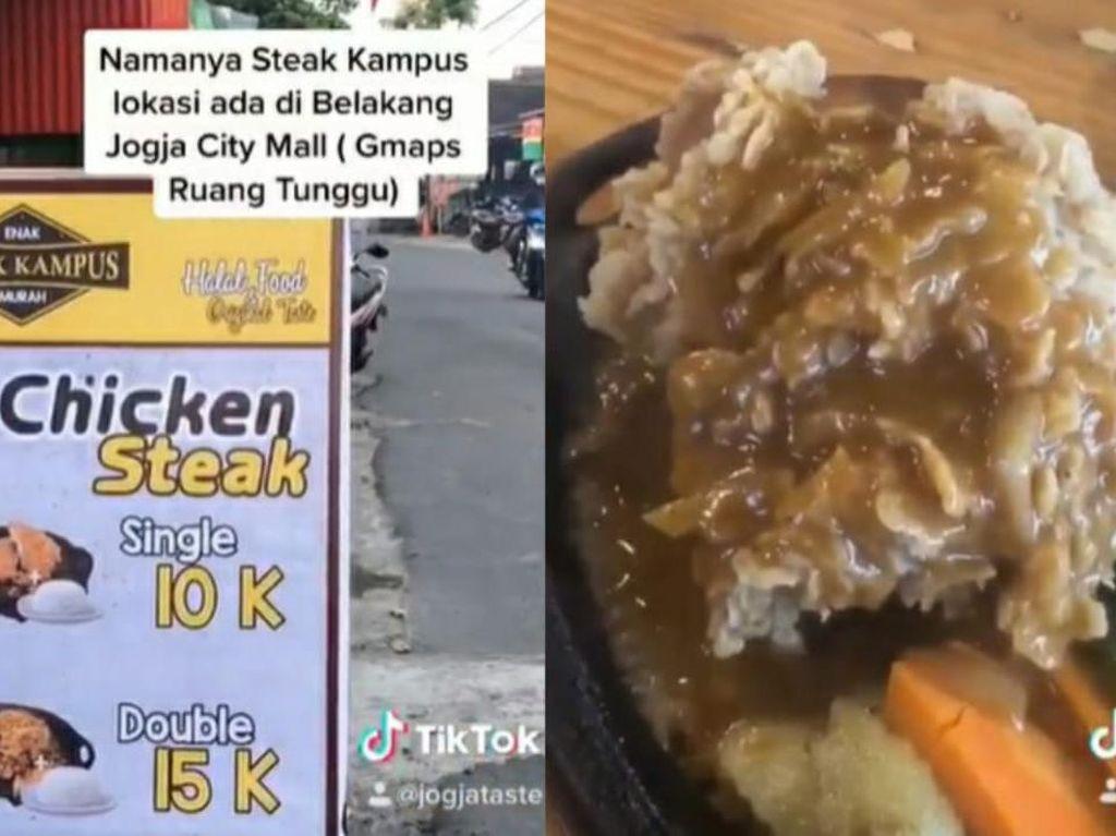 Wah! di Yogyakarta Bisa Makan Steak Enak Hanya Rp 10 Ribu