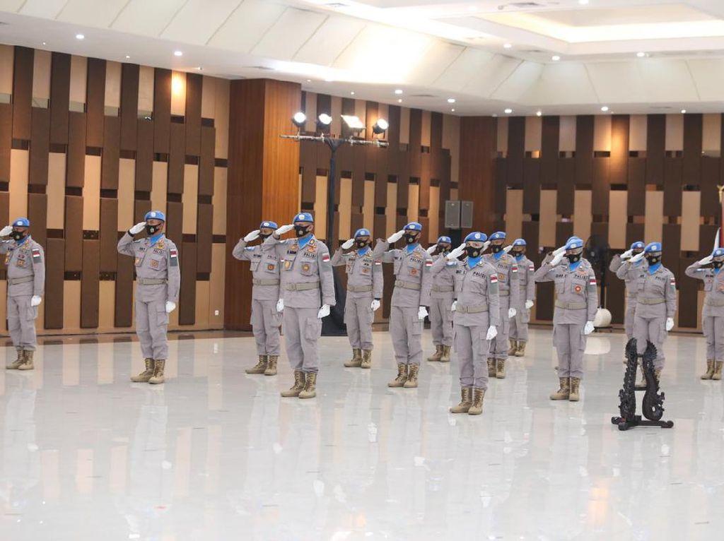 Kapolri Lepas 2 Kontingen Pasukan Perdamaian ke Sudan dan Afrika Tengah
