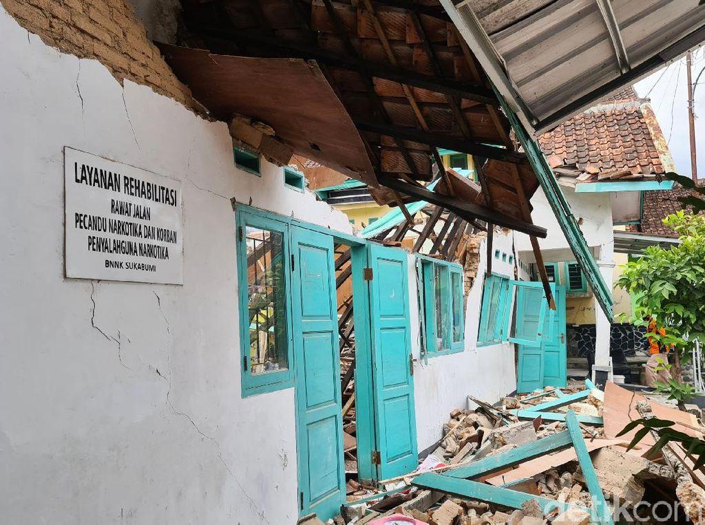 Kantor BNN Sukabumi Ambruk, Brigjen Sufyan: Dua Pegawai Masih Dirawat