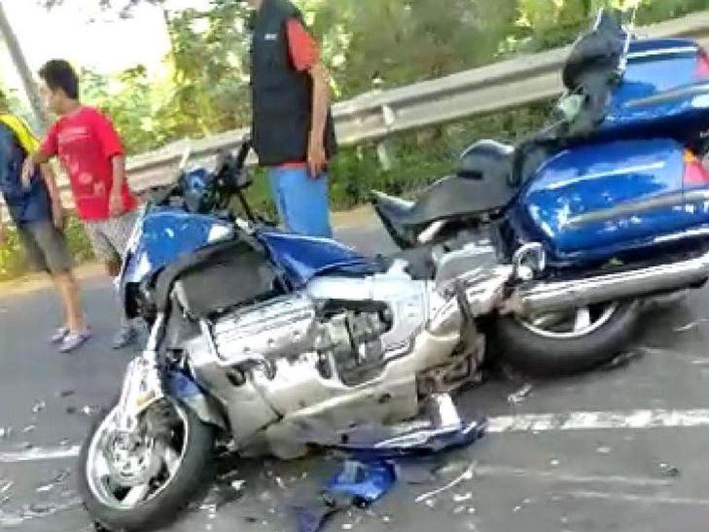 Motor yang Tabrak Truk di Jombang Honda Goldwing, Bukan Harley-Davidson