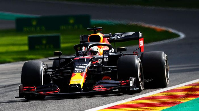 SPA, BELGIA - 30 AGUSTUS: Max Verstappen dari Belanda mengendarai (33) Aston Martin Red Bull Racing RB16 di trek selama F1 Grand Prix Belgia di Circuit de Spa-Francorchamps pada 30 Agustus 2020 di Spa, Belgia.  (Foto oleh Francois Lenoir / Pool via Getty Images)