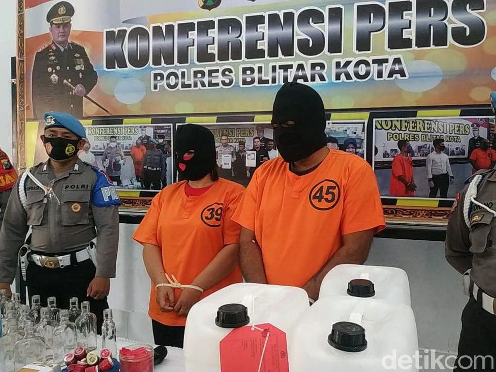 Pasutri Penjual Miras yang Tewaskan 3 Orang di Blitar Jadi Tersangka