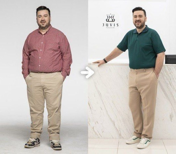 Sam berhasil menurunkan berat badannya hingga 22 kilogram dalam beberapa bulan saja.