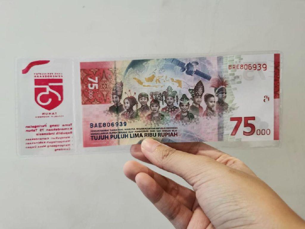Jangan Ditolak Ya, Uang Pecahan Rp 75.000 Bisa Dipakai Belanja Kok!
