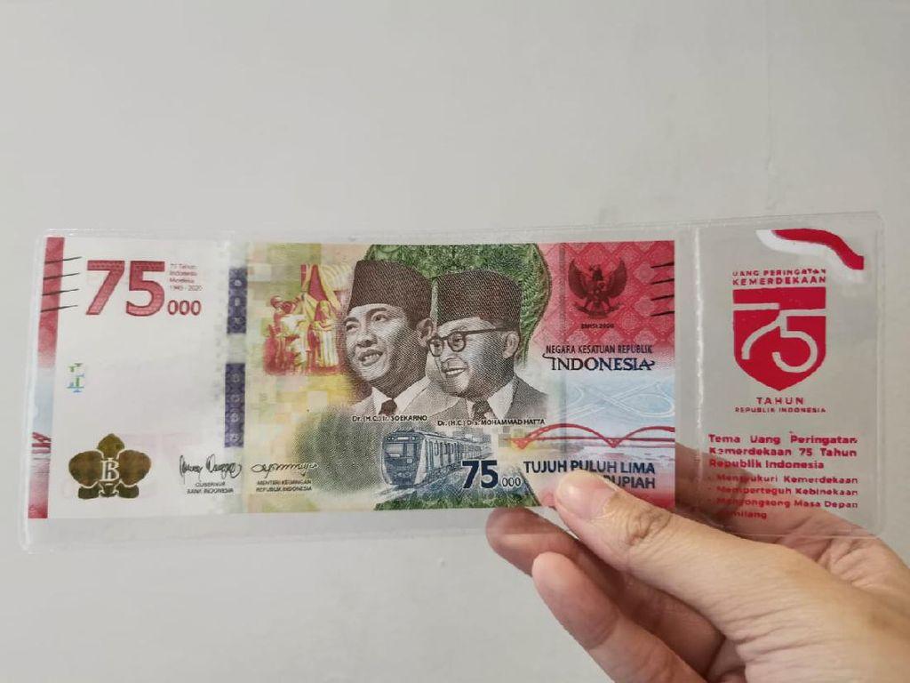 Mulai Besok Tukar Uang Khusus Rp 75.000 Bisa ke Bank
