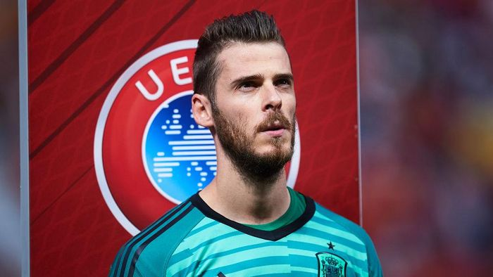 GIJON, SPAIN - SEPTEMBER 08: David De Gea of Spain looks on during the UEFA Euro 2020 qualifier match between Spain and Faroe Islands at Estadio Municipal El Molinon on September 08, 2019 in Gijon, Spain. (Photo by Juan Manuel Serrano Arce/Getty Images)