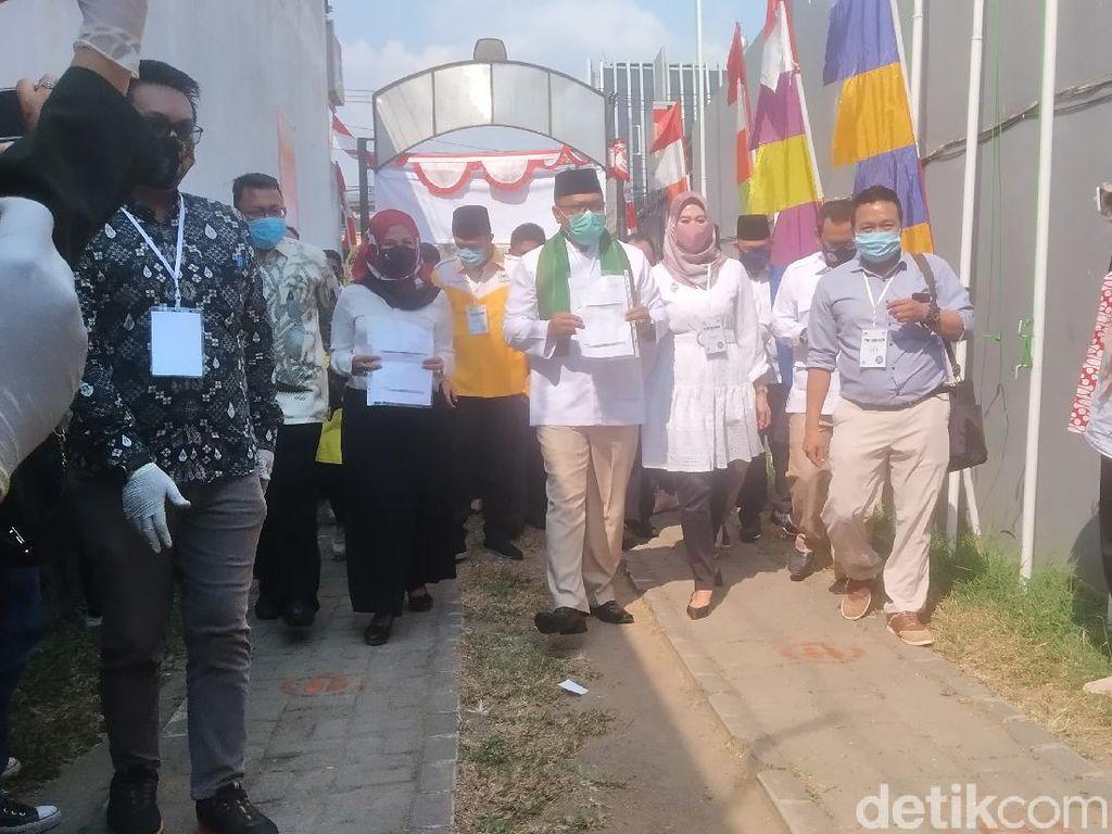 Diiringi Selawat dari Pendukung, Pradi-Afifah Daftar Pilwalkot Depok