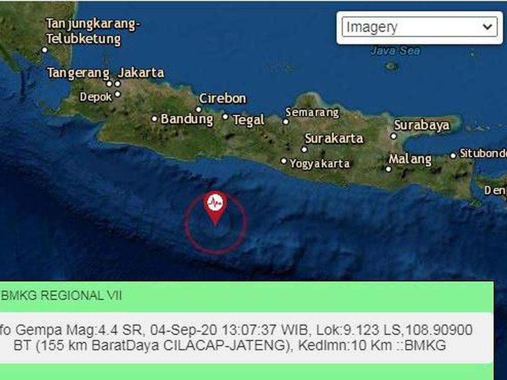 Gempa Bumi M 4,4 Terjadi di Cilacap