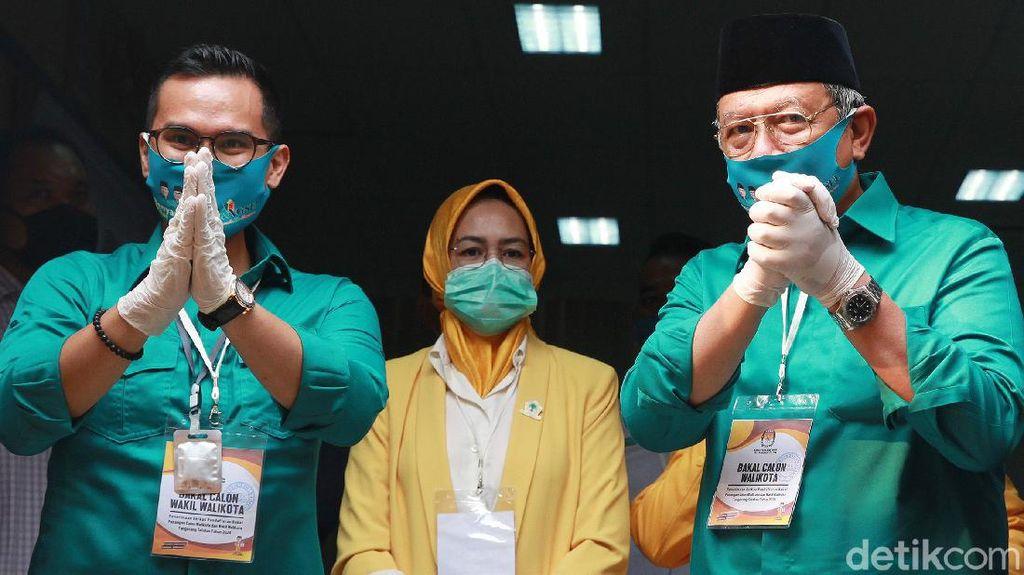 Airin Kawal Benyamin-Pilar Saga Daftar Calon Wali Kota ke KPU Tangsel