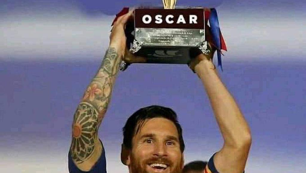 Lionel Messi Tak Jadi Tinggalkan Barcelona, Ini Meme-memenya