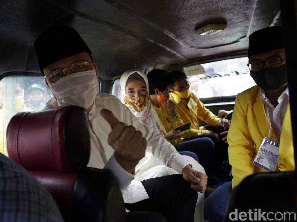 Naik Angkot, Rohidin-Rosjonsyah Daftar ke KPU Provinsi Bengkulu