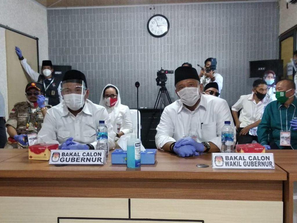 Eks Gubernur Agusrin-Imron Rosyadi Jadi Pendaftar Terakhir Pilgub Bengkulu