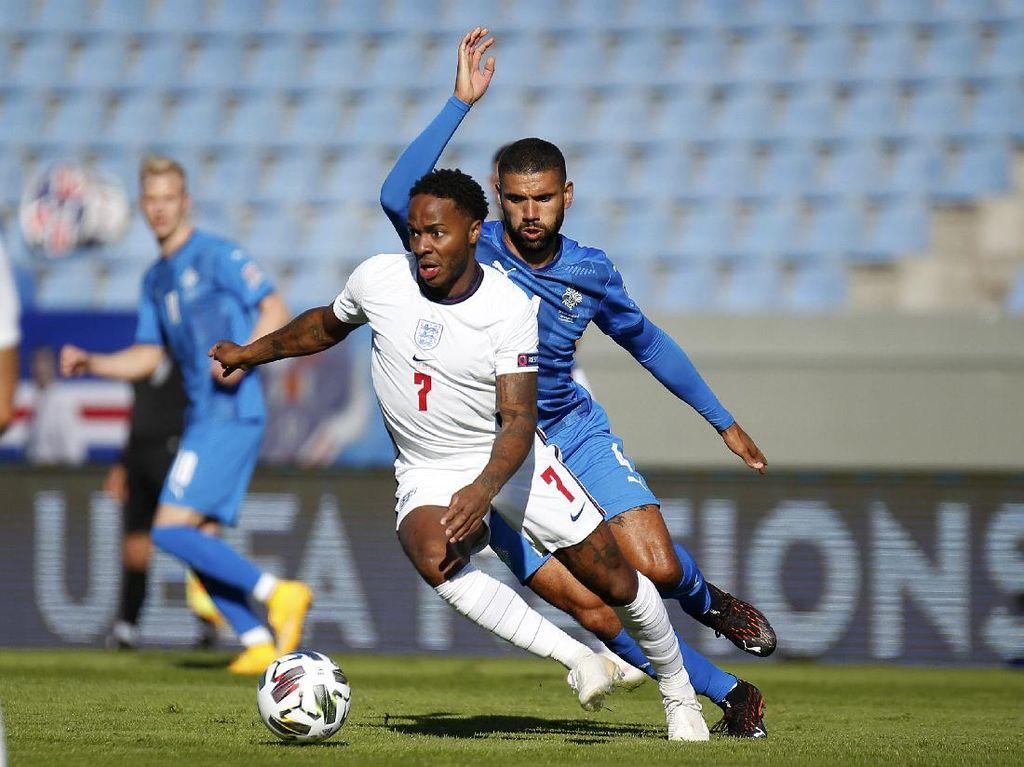 Video Penalti Sterling Menangkan Inggris atas Islandia