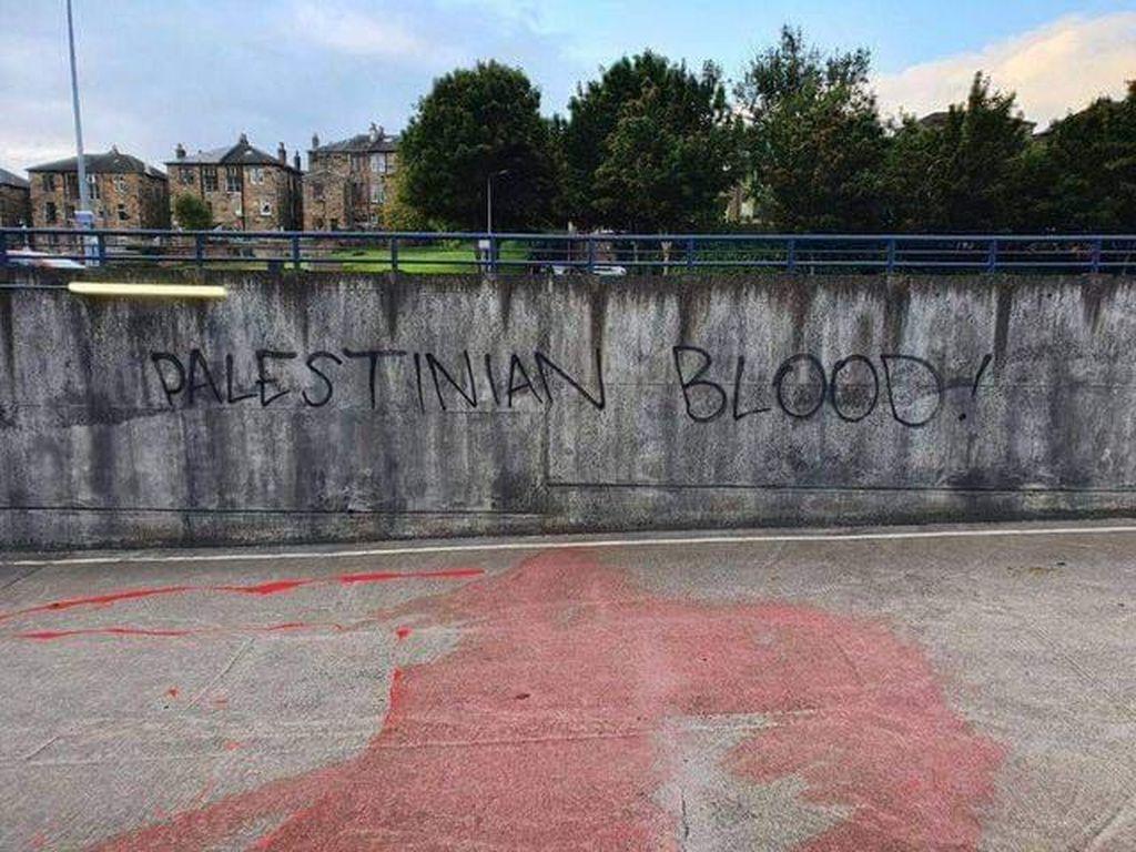 Darah Rakyat Palestina Sambut Timnas Israel di Skotlandia
