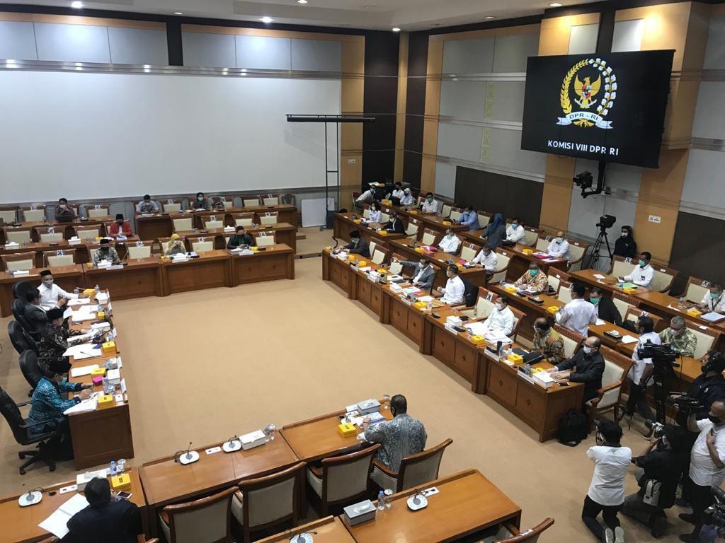 Komisi VIII DPR Rapat RUU Penanggulangan Bencana, Mensos-Menkes Hadir