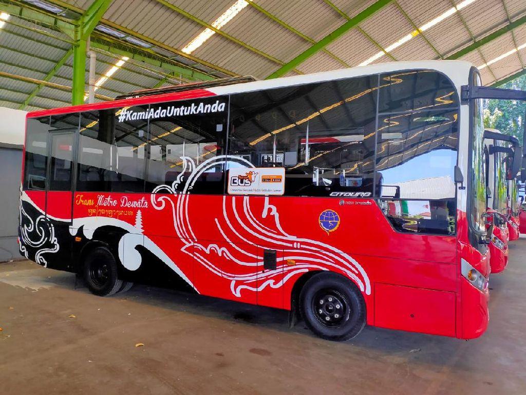 Bus BTS Dilengkapi Protokol Kesehatan saat Pandemi Corona