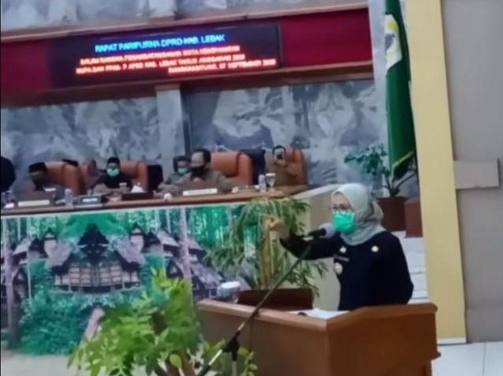 Bupati Lebak Ngamuk di Paripurna, Anggota Dewan yang Dimarahinya: Kaget, Aneh!