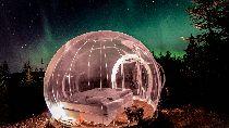 Mau Lihat Aurora? Bisa dari Hotel Gelembung Islandia