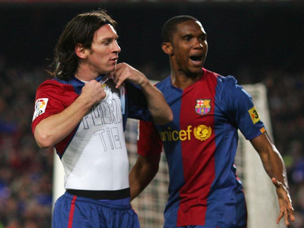 Etoo Tak Terima Disebut Pernah Main Bareng Messi