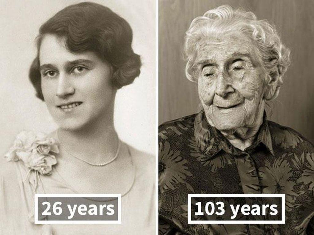 Potret Wajah Manusia Saat Muda dan Setelah 100 Tahun