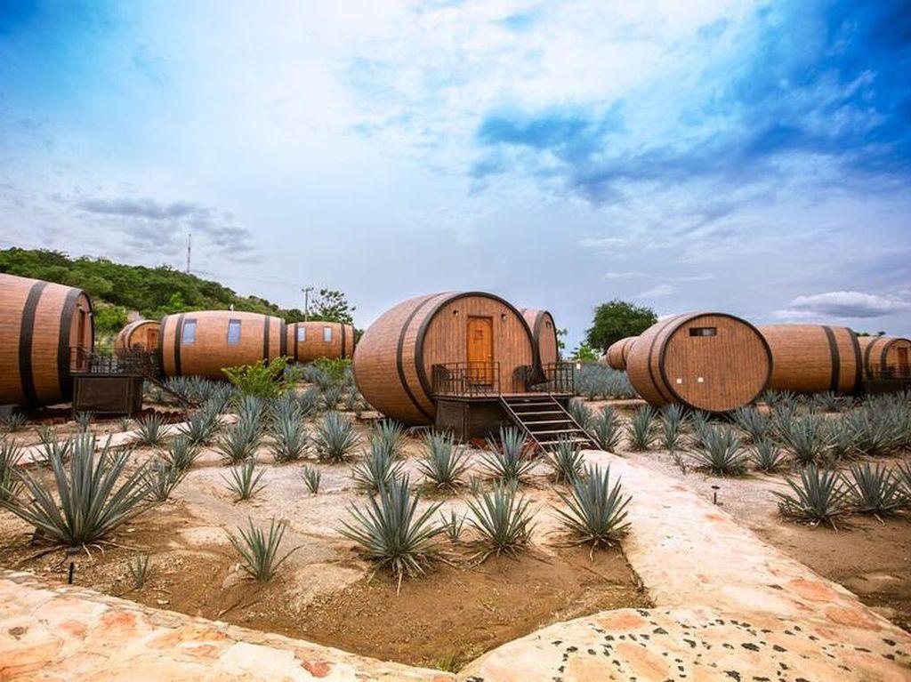 Ini Dia Hotel Bentuk Tong Tequila di Meksiko