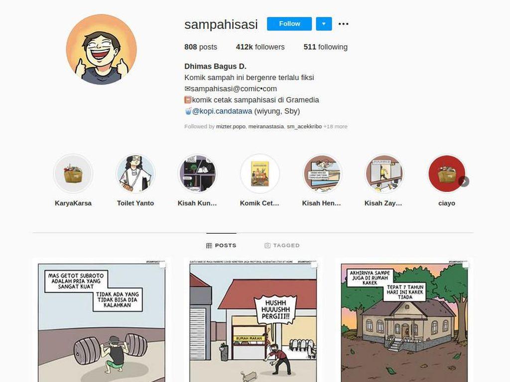 Dari Iseng, Komik Strip Sampahisasi Makin Menjamur di Instagram