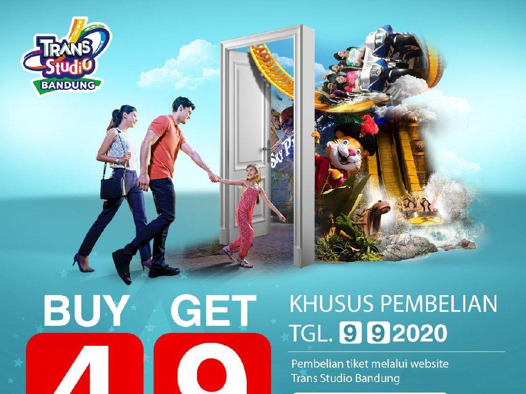Harbolnas 9.9, Trans Studio Bandung Beri Promo BUY 4 GET 9 TICKET