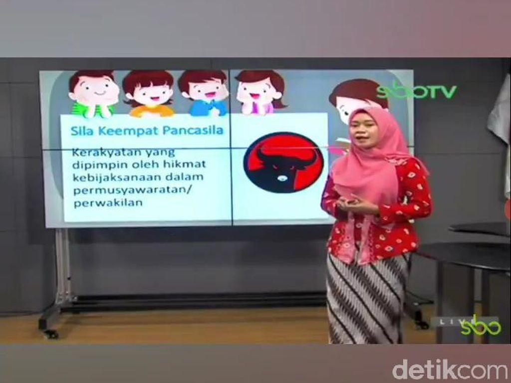 KPID Jatim Jatuhkan Sanksi ke SBO TV soal Logo PDIP Jadi Lambang Sila ke-4